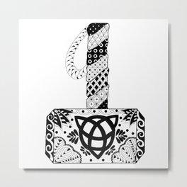 Mjolnir Mandala Metal Print