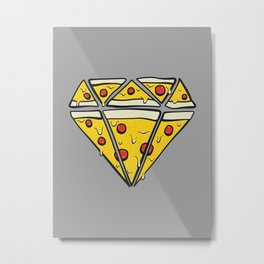 Pizzas are Forever Metal Print