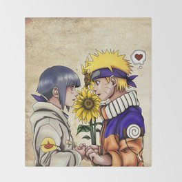 Naruto and Hinata Throw Blanket