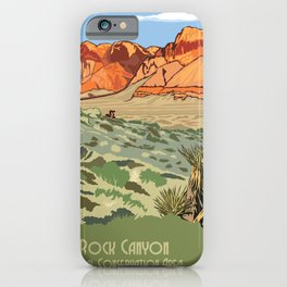 Vintage Poster - Red Rock Canyon National Conservation Area, Nevada (2015) iPhone Case