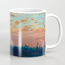 Tom Thomson - Sunset Sky - Canada, Canadian Oil Painting - Group of Seven Coffee Mug