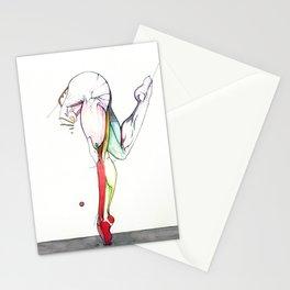 Motion 3, nude leg anatomy, NYC artist Stationery Cards