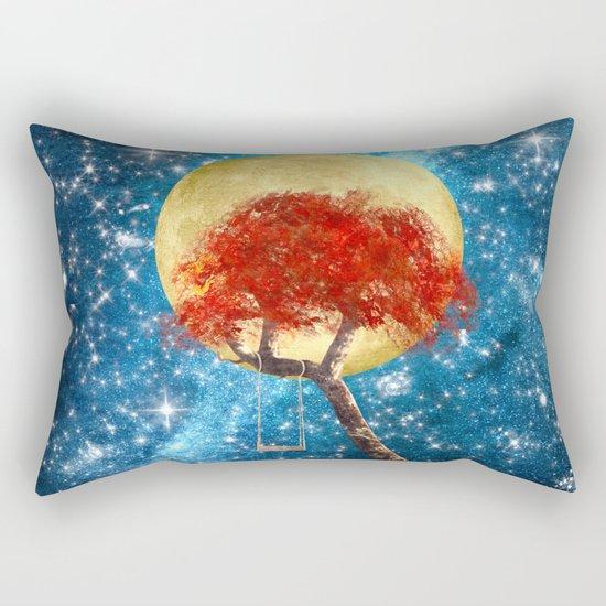 Swing Under a Golden Moon Rectangular Pillow