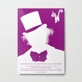 Willy Wonka Tribute Poster Metal Print