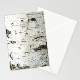 Birch bark pattern Stationery Cards