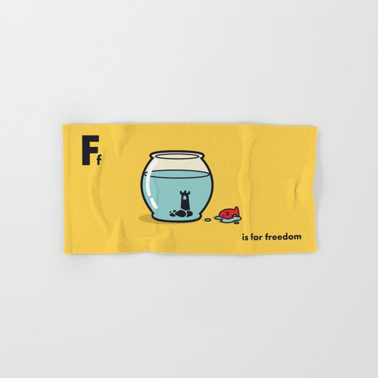 F is for freedom - the irony Hand & Bath Towel