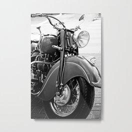 Motorcycle-B&W Metal Print