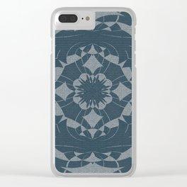 Denim Indigo Mandala Clear iPhone Case