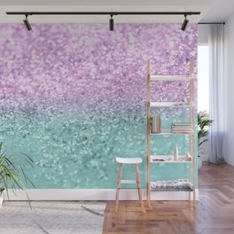 Mermaid Girls Glitter #2 #shiny #decor #art #society6 Wall Mural