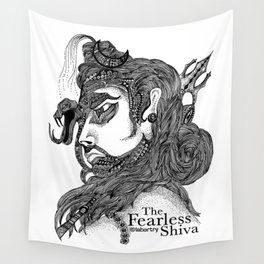 The Fearless Shiva Wall Tapestry