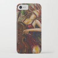 cello iPhone & iPod Cases featuring Cello Girl by Megan Bailey Gill