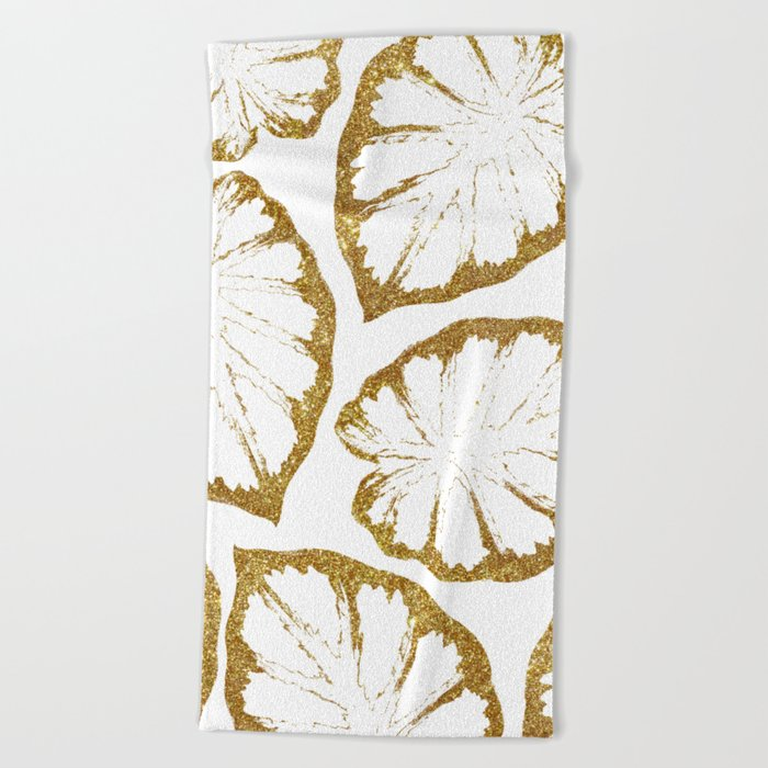 Monstera Gold #society6 #decor #buyart Beach Towel
