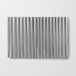 Arranged Strips of Paper Metal Print