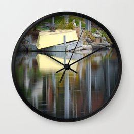 Queensland Lake reflection Wall Clock