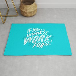work for it Rug