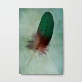 A Gift from a Parrot Metal Print