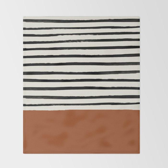 Burnt Orange x Stripes Decke