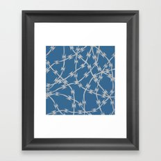 Trapped Blue Framed Art Print