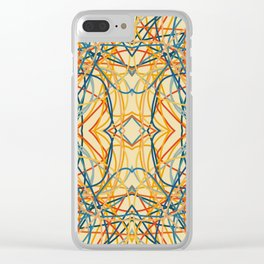 Colorful Retro Chaos Ettin Clear iPhone Case