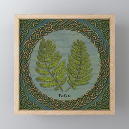 Celtic Ferns Framed Mini Art Print