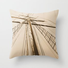 Top of the Mast Throw Pillow