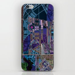 """""""non-existing"""" city """"existing"""" map iPhone Skin"""
