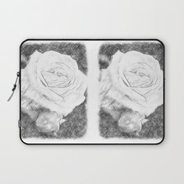 Pink Roses in Anzures 2 Charcoal Laptop Sleeve