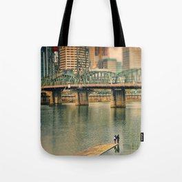 Lovers Under the Bridge Tote Bag