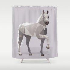 Lipizzaner Horse Shower Curtain