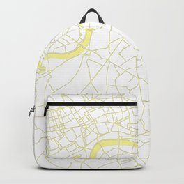 London White on Yellow Street Map Backpack