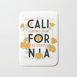 California Knows How To Poppy Bath Mat