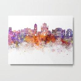 Rijeka skyline in watercolor Metal Print