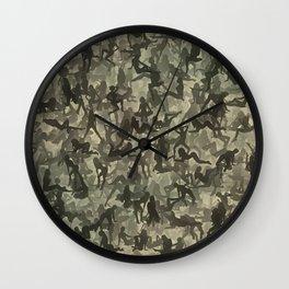 Sexy girls camouflage Wall Clock
