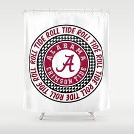 Alabama University Roll Tide Crimson Shower Curtain