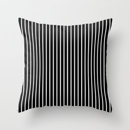 Classic White Pinstripe on White Throw Pillow