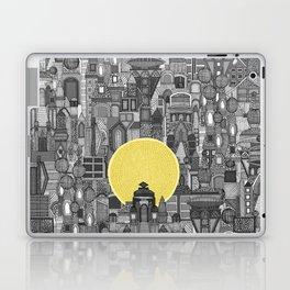 space city sun bw Laptop & iPad Skin