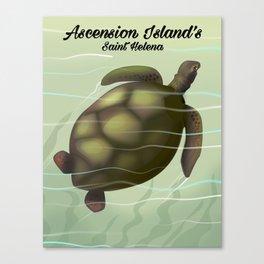 Ascension Islands travel poster Canvas Print