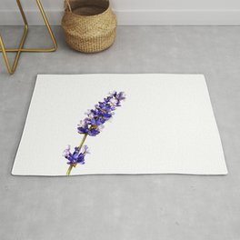 Mediterranean Lavender on White Rug