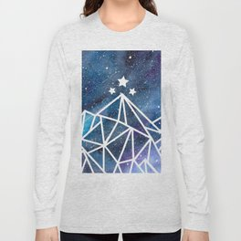 Watercolor galaxy Night Court - ACOTAR inspired Long Sleeve T-shirt