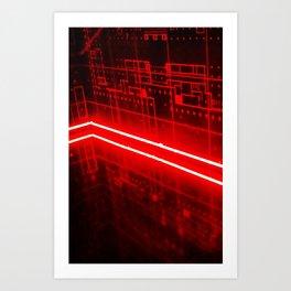 red glow Art Print