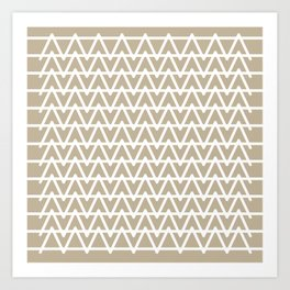 Grey & White pattern Art Print