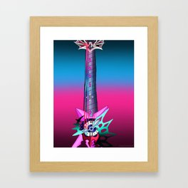 Fusion Keyblade Guitar #191 - Young Xehanort's Keyblade & Pain of Solitude Framed Art Print