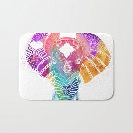 Colorful Elephant Bath Mat