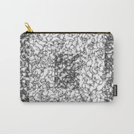 Black and white marble texture 6 Carry-All Pouch