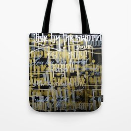 Live By The Sword Tote Bag