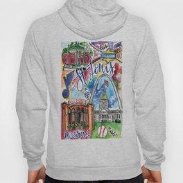 St. Louis Skyline Watercolor Hoody