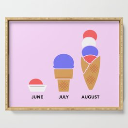 Ice Cream Season Serving Tray