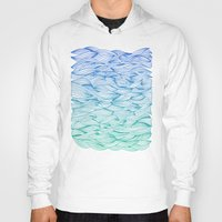 waves Hoodies featuring Ombré Waves by Cat Coquillette
