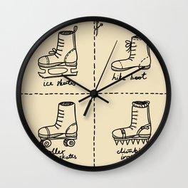 Sport shoes doodles Wall Clock