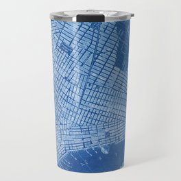 New York antique map, blue old maps, usa maps Travel Mug